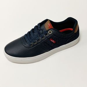 Levi's Miles Tumbled Denim Fashion Sneakers NIB